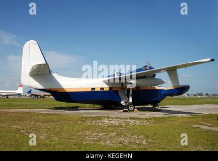 Seaplane on the ground - Stock Image