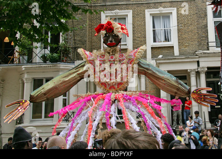 Female Carnival Figure in the Notting Hill Carnival Parade 2009 - Stock Image