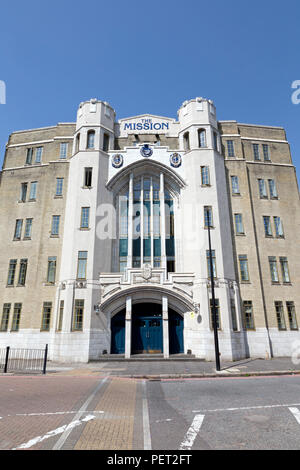 The Mission, formerly known as the Empire Memorial Sailors' Hostel, Commercial Road, London, UK. - Stock Image