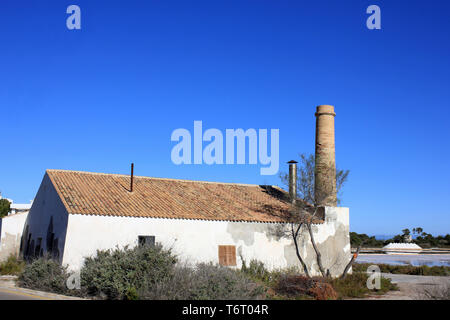 Salt Works At Salinas de S'Avall, Colonia Sant Jordi, Mallorca - Stock Image