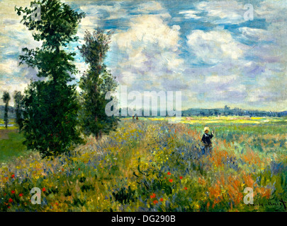 Poppy Field, Argenteuil by Claude Monet 1875 - Stock Image