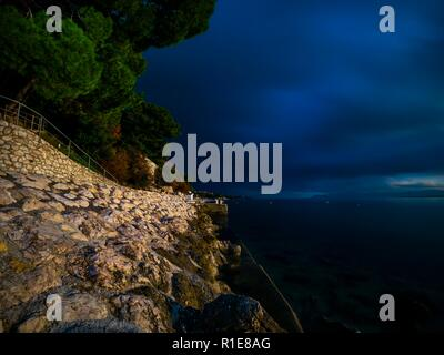 Long exposure waterfront - Stock Image
