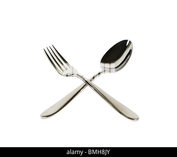 Spoon and fork - Stock Image