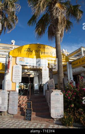 The Wigan bar, Benalmadena seafront, Costa del Sol, Spain - Stock Image