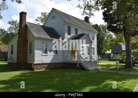 Home of John F. Tompkins located in historic Bath, North Carolina. - Stock Image