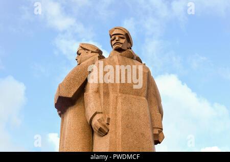 Latvian Riflemen Monument, Riga, Latvia - Stock Image