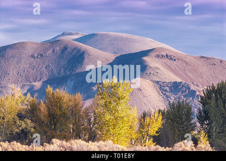Scenic view of the Pioneer Mountains as viewed from Hwy 93, near Challis Idaho, USA - Stock Image