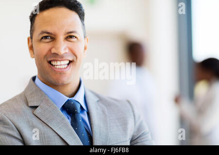close up portrait of mature business man - Stock Image