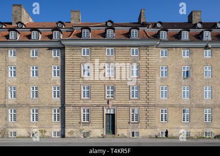 BaseCamp Sølvgade, student housing center, Georg Brandes Plads, Copenhagen, Denmark - Stock Image