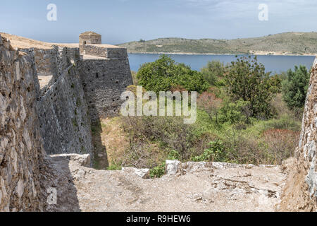 Porto Palermo Castle Antigonea Riviera Albania - Stock Image