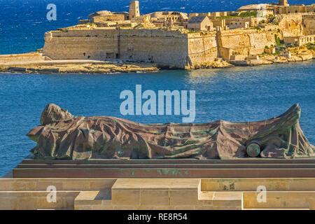 Memorial To Unknown Soldier, Lower Barrakka Gardens, Valletta, Malta - Stock Image