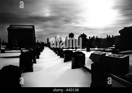 Cemetary Queens New York - Stock Image