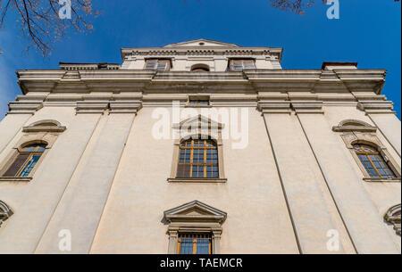 Batthyaneum Library  inside the Alba Carolina citadel in Alba Iulia, Romania. - Stock Image