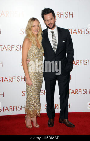 London, UK, 27/10/2016, Joanne Froggatt & Tom Riley  attends the premiere of 'STARFISH' at the Curzon - Stock Image
