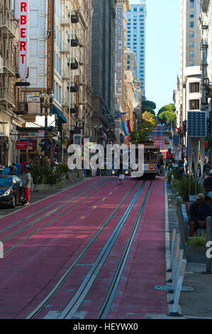 Famous cable car transportation - Stock Image