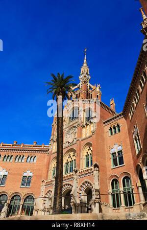 Recinte modernista de Sant Pau art nouveau complex. Former hospital, Barcelona, Catalunya, Spain - Stock Image