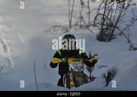 Lake Paijanne tour, Eemil Pohjola, 3th 2015 race - Stock Image