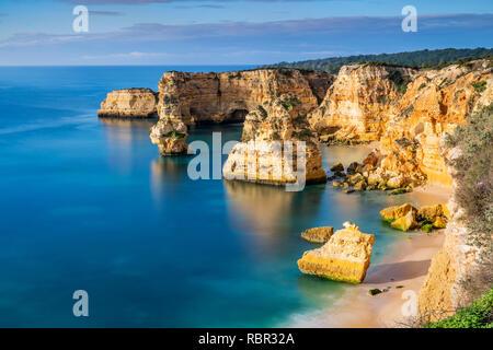 Praia da Marinha or Marinha Beach, Caramujeira, Lagoa, Algarve, Portugal - Stock Image