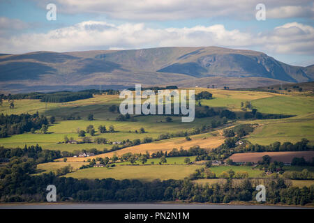 View towards Ben Wyvis (1046m) from the Black Isle,Ross and Cromarty, Scotland,UK - Stock Image