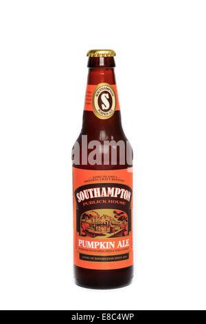 A bottle of Southampton Publick House Pumpkin Ale - Stock Image