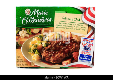 Marie Callender's Salisbury Steak Ready Meal Frozen Dinner - Stock Image