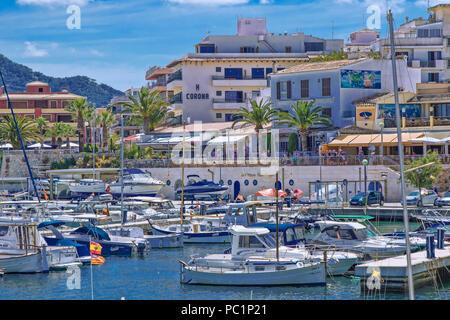 Cala Ratjada harbour - Stock Image