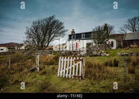 Crofters cottage, Altandhu, Summer Isles, west coast of Scotland. - Stock Image