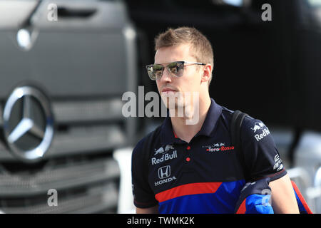 Marseille, France. 21st Jun 2019. FIA Formula 1 Grand Prix of France, practice sessions; Scuderia Toro Rosso, Daniil Kvyat Credit: Action Plus Sports Images/Alamy Live News - Stock Image