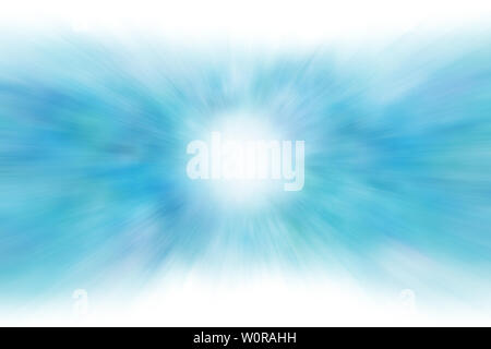 Blue rays of light background or sunlight texture abstract - Stock Image