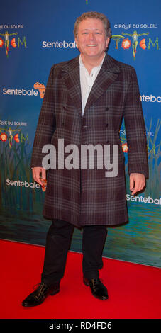 London, United Kingdom. 16 January 2019. Jon Culshaw arrives for the red carpet premiere of Cirque Du Soleil's 'Totem' held at The Royal Albert Hall. Credit: Peter Manning/Alamy Live News - Stock Image