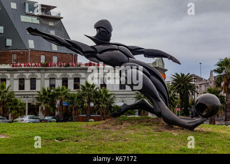 Soccer Player Cape Town South Africa - Stock Image