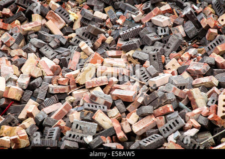 A collection of bricks or pile of rubble - Stock Image
