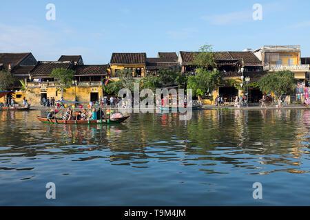 Riverside Hoi An Vietnam - Stock Image