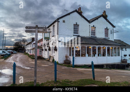 The Old Ship pub, Heybridge Basin, Maldon, Essex, England, UK - Stock Image