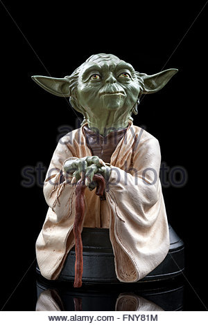 Star Wars : Yoda, Jedi master (limited edition bust by Gentle Giant Studios) - Stock Image