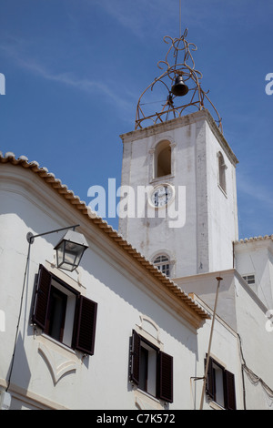 Portugal, Algarve, Albufeira, Clocktower - Stock Image