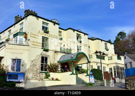 Ambleside Salutation Hotel & Spa,Lake District,England,UK - Stock Image