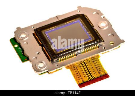 Workings of a digital camera (Nikon D200) 10.2 megapixel sensor - Stock Image