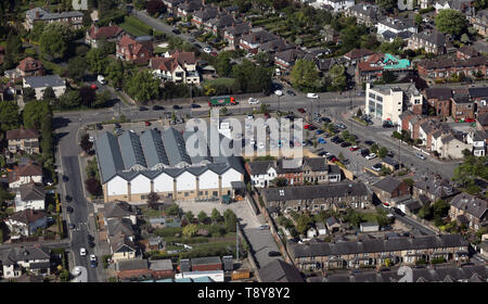 aerial view of M&S Harrogate Oatlands Simply Food, Harrogate, North Yorkshire - Stock Image