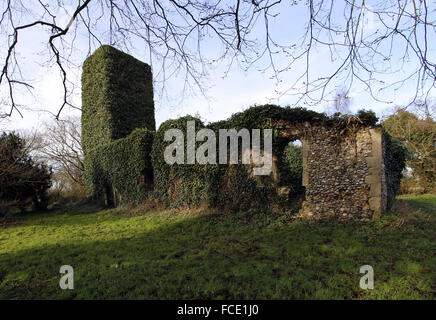 Ruined Church, Norfolk - Stock Image