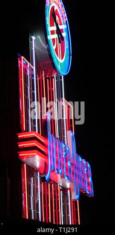 Side view of Sign For Silver Diner in Greenbelt, Md b - Stock Image