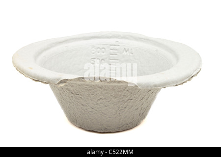 Paper mache medical bowl also known as a kidney bowl. - Stock Image