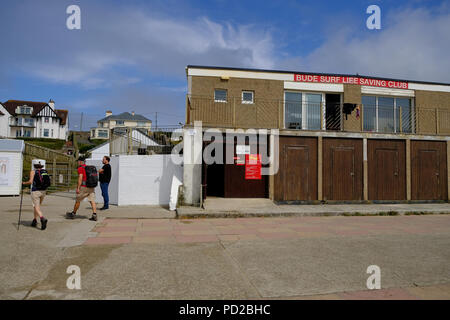 Bude, Cornwall, UK. Bude Surf Life Saving Club - Stock Image