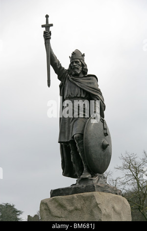 Statue of Alfred the Great, Winchester, Hampshire, UK - Stock Image