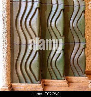 Detail of ceramic tile, Helsinki Central Station - Stock Image
