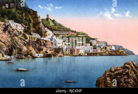 Panorama of Amalfi, on the south-west coast of Italy. - Stock Image
