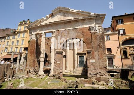 italy, rome, portico d'ottavia, porticus octaviae - Stock Image