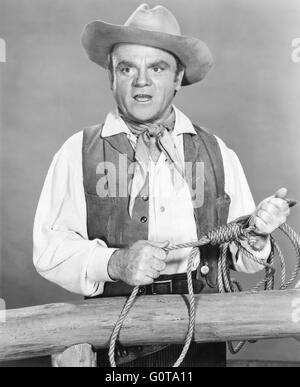 James Cagney / Tribute to a Bad Man / 1956 directed by Robert Wise (Metro-Goldwyn-Mayer) - Stock Image