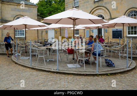 The Courtyard Café at the Castle Howard  stately home in North Yorkshire England UK - Stock Image