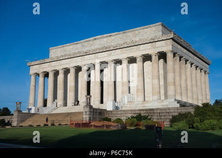 The Lincoln Memorial, Washington, District of Columbia, USA - Stock Image